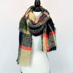 Blanket Scarf in Lovely Fall Colors